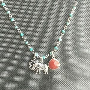 Lucky Brand elephant charm necklace
